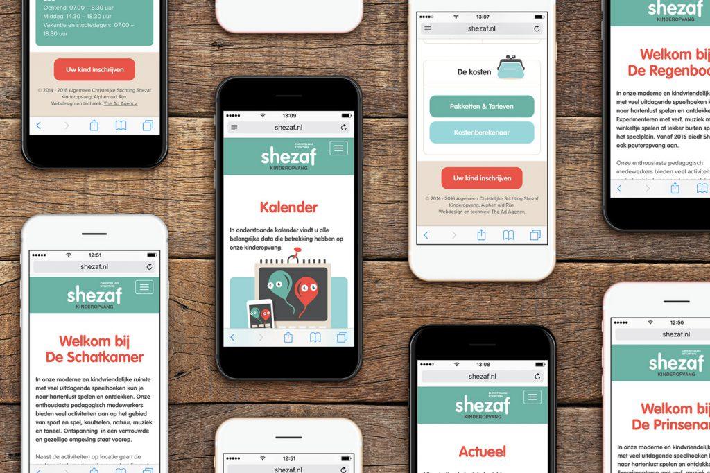 Shezaf kinderopvang website